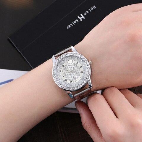 YBotti Luxury Brand Women Watcth Gold Steel Bracelet Watch Quartz Wristwatch Crystal Women Dress Jewelry Watch relogio feminino Karachi