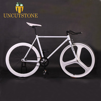 Fixed gear bike Magnesium Alloy Wheel 3 spokes fixie Bicycle700C wheel 70mm Rim 52cm frame BIKE Complete Road Bike
