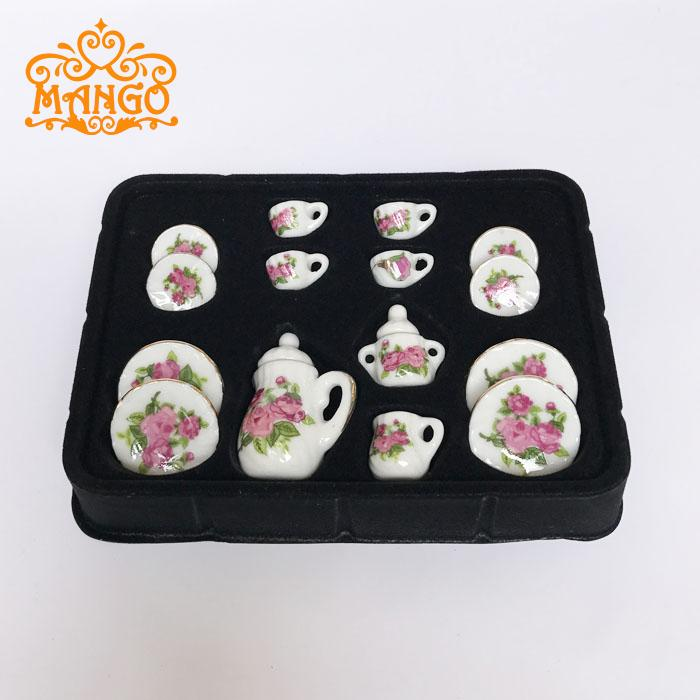 Dollhouse Sushi Rice Rolls on a Ceramic Plate 1:12 Handcrafted Miniature Food