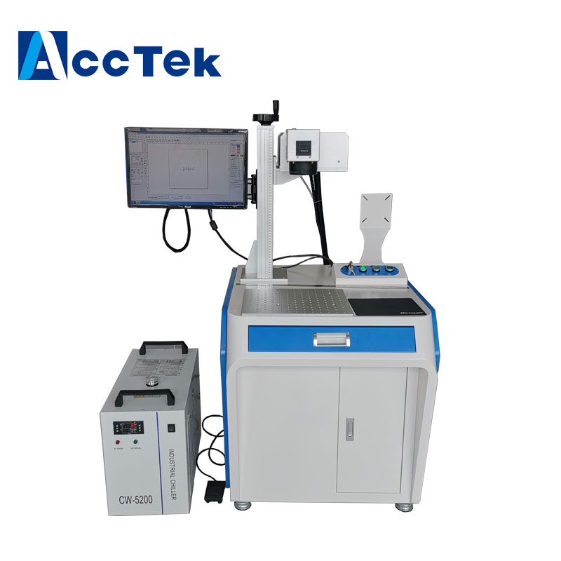uv stainless steel iron jewelry engraver aluminum copper optical fiber laser marking machine made in China