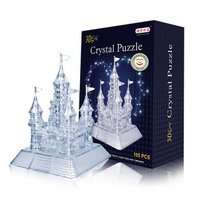 Candice Guo New Arrival Hot Sale 3D Crystal Puzzle Castle Model DIY Funny Game White Gray
