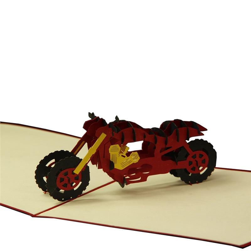 20pcs Lot Creative Funny 3d Paper Laser Cut Motorcycle