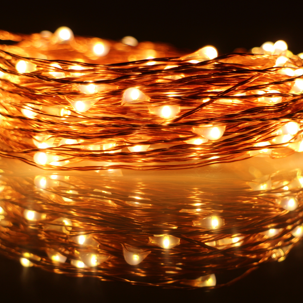 Connectable Outdoor Lights: DC 12V 2*10m 200 LED copper wire connectable outdoor fairy string lights  with power,Lighting