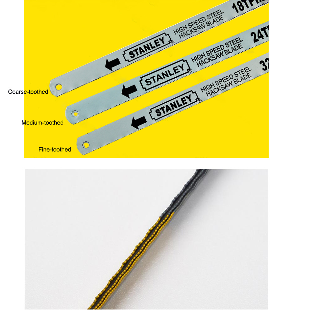 Tools : Stanley 10pcs 12-inch 18T 24T 32T bi-metal HSS saw blade 300mm hand hacksaw blades saw replacement cutter for metal wood cutting