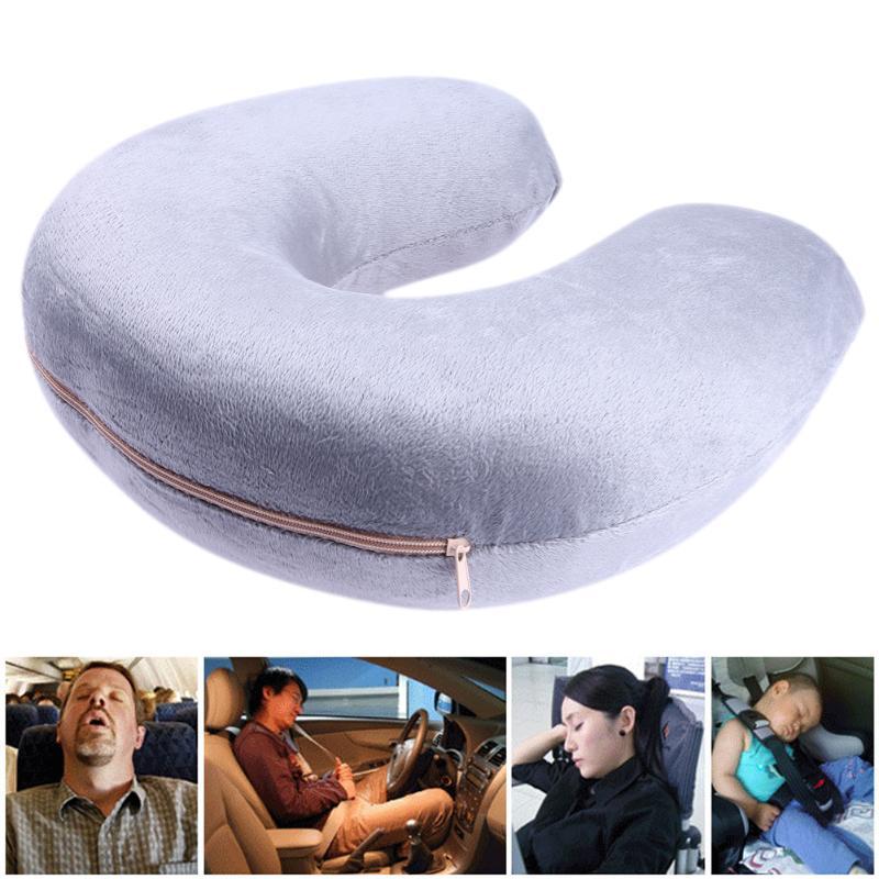 VODOOL Portable U-Shape Headrest Cushion Pillow Neck Rest Car Travel Comfort Headrest Car Flight Travel Soft Nursing Cushion