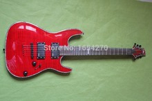 Free Shipping Brand Classic Guitar Red Penetrating Body Design ESP LTD H-351NT 24 Fret Electric Guitar Made in the Korea 150604
