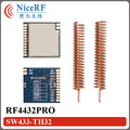 2 unids/lote RF4432PRO 100 mW Si4432 FSK/GFSK Embeded antiinterferente 433 MHz Módulo Transceptor de Datos Inalámbricos