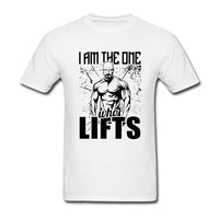 Male Slim Formal Tee Shirts Factory Breaking Bad Tops With I Am The One Who Lifts