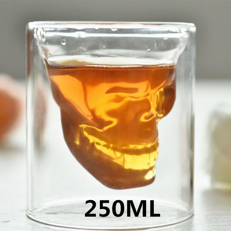 250mL kreatív koponyafejű borospohár átlátszó - Konyha, étkező és bár