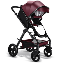 Cochecito de bebé de coche de bebé cochecito de bebé carro de niño plegable portátil grande de LA UE de alta cochecito de bebé carro de cuero 4 colores de Cuero