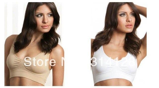 GENIE BRA PADDED SEAMLESS LEISURE FASHION white,black ,beige wear sports style 3pcs/set