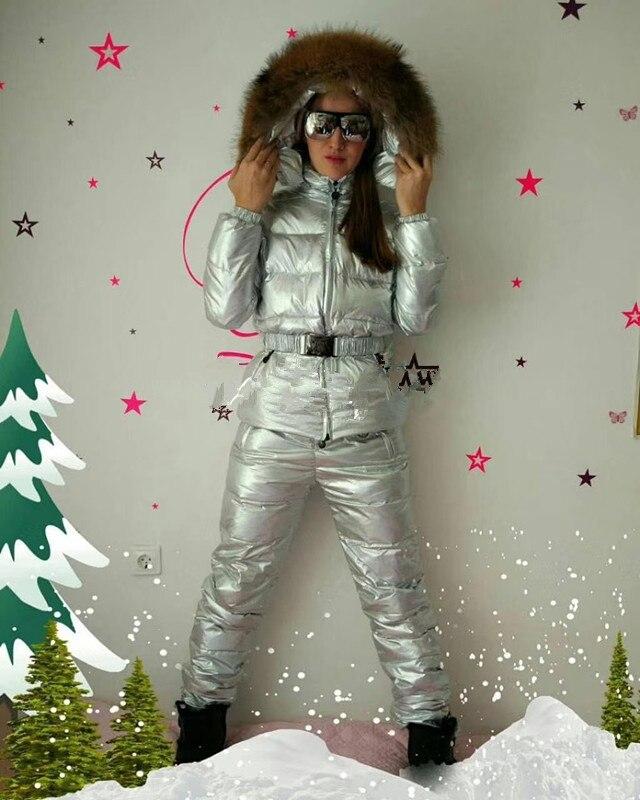 Новый женский костюм 2018 зимняя куртка Женский пуховик парка женский пуховик комплект куртка и брюки костюм брюки верхняя одежда костюм зим