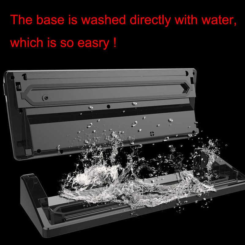 التلقائي 110 واط فراغ آلة الختم المنزل أفضل فراغ السدادة الطازجة ماكينة تغليف الغذاء التوقف فراغ باكر مع 1 لفة حقيبة