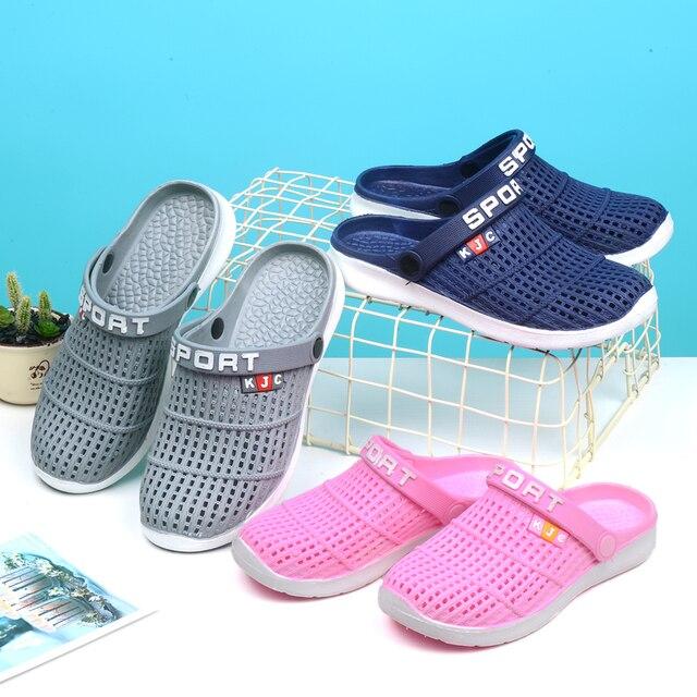 9d1ea1f39ebfb Garden Clog Shoes Men Lightweight Quick Drying Summer Beach Slipper Sport  Benassies Outdoor Sandals Women Slip Gardening shoes 1