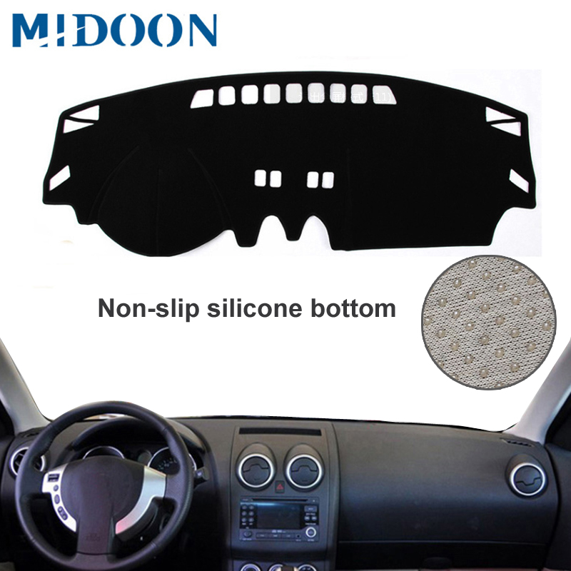 MIDOON For Nissan Qashqai Dualis J10 2006-2013 Car Styling Covers Dashmat Dash Mat Sun Shade Dashboard Cover Capter