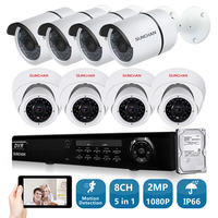 SUNCHAN HD AHD H 8CH 1080P 2 0MP SONY CCD Security Cameras System 8 1080P 2000TVL