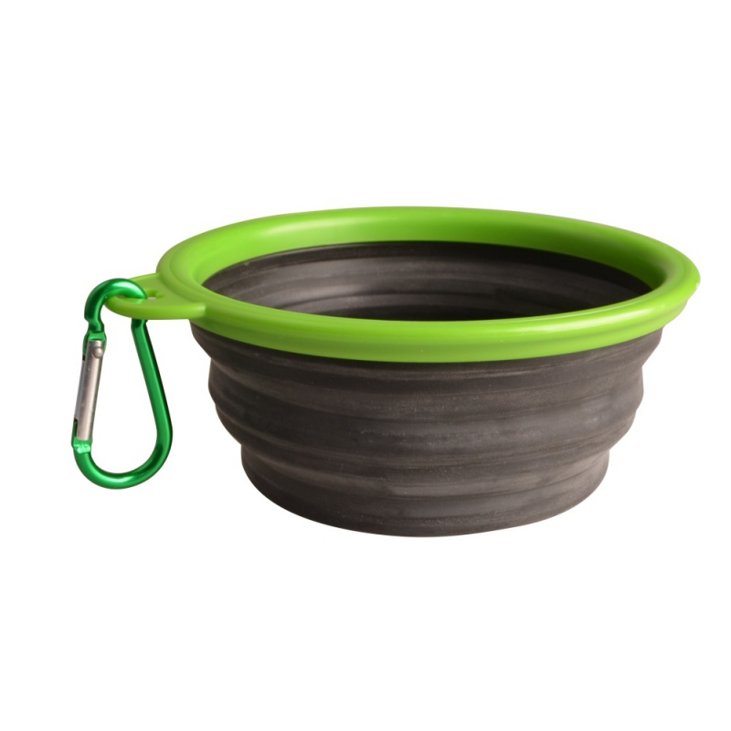 High Quality Portable Outdoor Travel Pet Dog Bowl Silicone Folding Bowls Food Drinking Water Product Dog Bowls #3