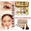 2017 N Eye Makeup Palette Natural Fashion Make Up Light 6 Colors Eye Shadow Shimmer Matte Eyeshadow Cosmetics Set With B