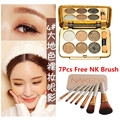 2017 N Eye Makeup Palette Natural Fashion Make Up Luz 6 Cores de Sombra Eye Shimmer Matte Eyeshadow Cosméticos Set Com B