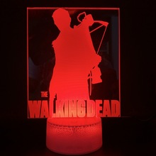 3d Led Night Light Lamp Movie The Walking Dead Home Decoration Bright Base Birthday Gift for Baby Bedroom Decor Nightlight