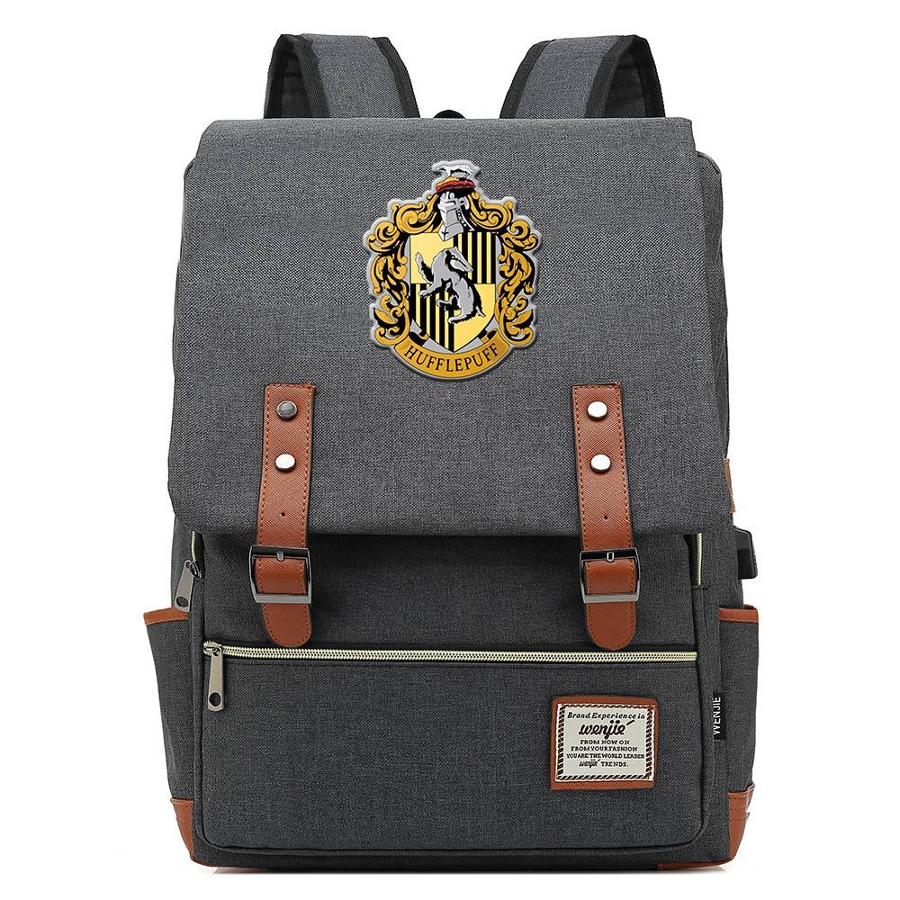 Image 3 - For Vip Link Dropshipping Magic Slytherin Gryffindor Hogwarts Boy  Girl Student School bag Teenagers Women Men USB Belt  BackpackBackpacks
