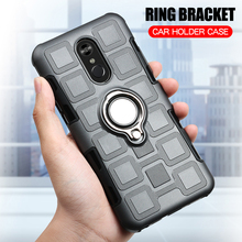 hot deal buy for lg stylo 4 silicone case for lg q stylus hard shockproof phone cover for lg stylo 4 / q stylus armor fundas ring holder case