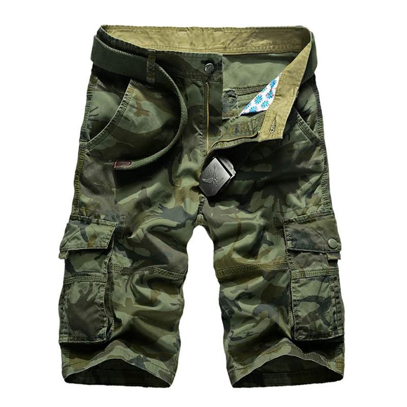 Cargo Shorts Men 2020 Casual Summer Camo Shorts Male Loose Work Breeches Many Pockets Military Short Pants Camouflage Shorts Men