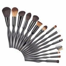 hot deal buy 15pcs/set unique shape makeup brushes set foundation powder brush cosmetic mix appliance kits women beauty makeup tools