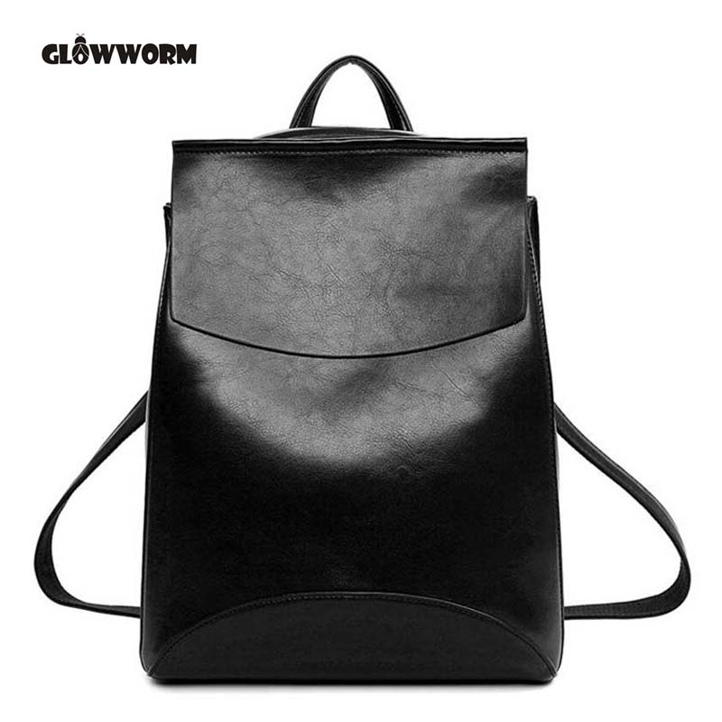 2017 Brand  esign Pu Women Leather Backpacks School Bag Student Backpack Ladies Women Bags Leather Package Female CX384  brand 2017 design women genuine leather backpacks cowhide school bag student backpack ladies bags leather package travel female