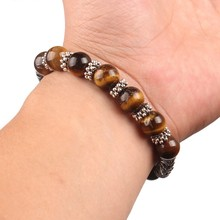 Seven Stone Bracelet with Charm