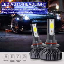 2pcs LED Auto Car Headlight Bulbs Kit 9006 HB4 EV8 60W 8000LM 6500K DOB Automobile Vehicle Fog Lamp Hi or Lo Light Bulbs for Car