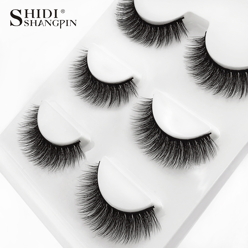 HTB1KqRiXOYrK1Rjy0Fdq6ACvVXaZ SHIDISHANGPIN 3 pairs mink eyelashes natural fake eye lashes make up handmade 3d mink lashes false lash volume eyelash extension