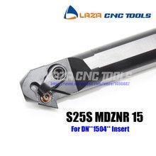 S25S-MDZNR 15 Chato Bar Virando Titular Interna, 93 Ângulo da ferramenta De Corte CNC, barra de Mandrilar Indexáveis para DNMG1504 ponta, torno Chato bar