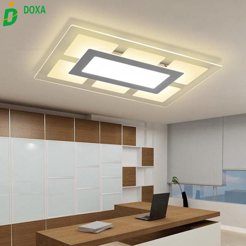 US $123.25 15% OFF|Neue Moderne Rechteck led deckenleuchte wohnzimmer  lichter acryl dekorative Kombination modul leuchte lampe lamparas de  techo-in ...