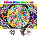 MOMEMO Color Flowers Blooming 1500 Piece Jigsaw Puzzles Giant Difficult Wooden Puzzle Adults 1500 Pieces Color Challenge Puzzle