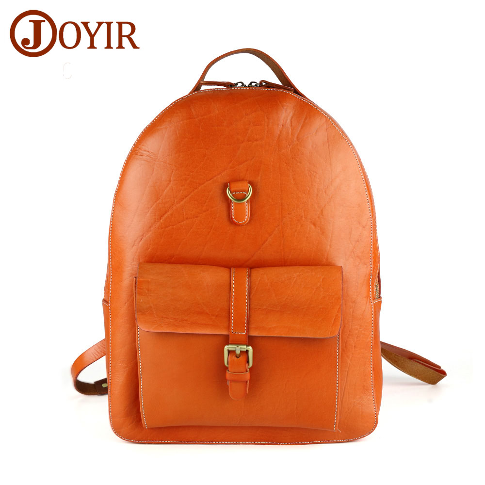 JOYIR Genuine Leather Women Men Backpack Solid Casual Large School Bag Shoulder Bag Belt Bag Pocket Travel Bag mochila masculina hot sale women s backpack the oil wax of cowhide leather backpack women casual gentlewoman small bags genuine leather school bag