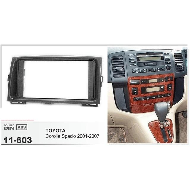 11-603 Car Radio Frame Fascia Panel for TOYOTA Corolla Spacio 2001-2007 Stereo Dash Facia Trim Surround CD Installation Kit