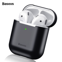Baseus Earphone Case For Airpods 1 2 Silicone Case For Apple Air Pods Case Cover Shockproof Protective Coque Funda For Airpod