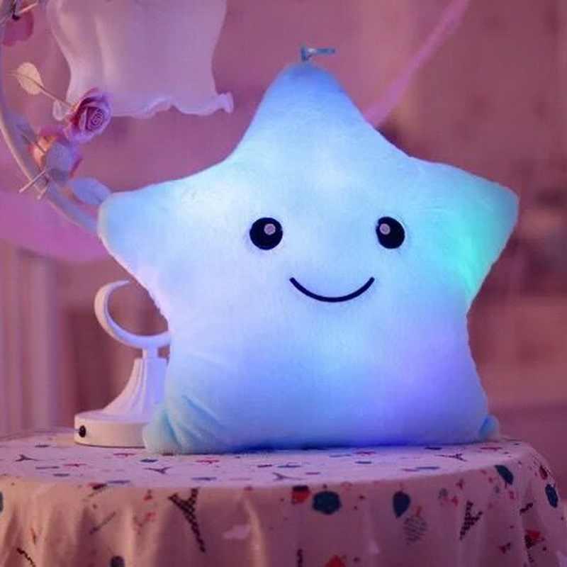 Светящаяся Подушка Звезда Подушка красочная светящаяся плюшевая кукла-подушка светодиодные игрушки подарок для детей плюшевый светильник игрушки Горячая