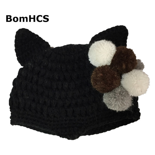 Bomhcs Frauen Mode Teufel Horn Mützen Stricken Snowboard Hüte