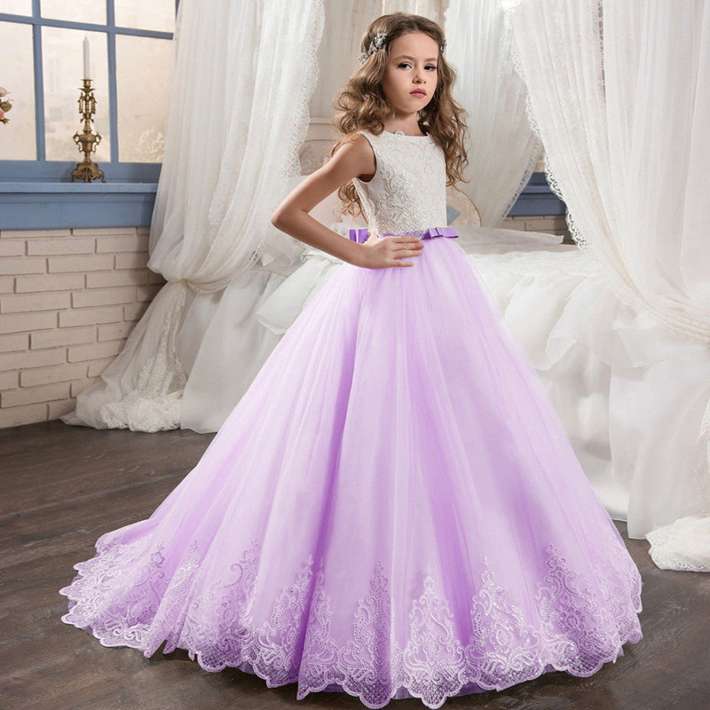 Flower Girl Dresses Kids Evening Gowns For Wedding First First Communion Wedding Party Dress