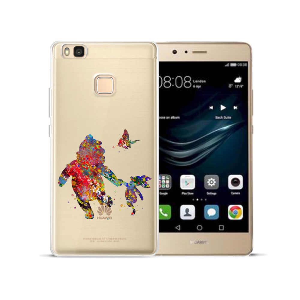 צבעי מים TPU כיסוי עבור Huawei P8 P9 P10 P20 לייט בתוספת Mate 10 פרו P חכם כבוד 9 10 לייט 7X 7A Y3 Y7 2017 Y6 Y9 2018 מקרה