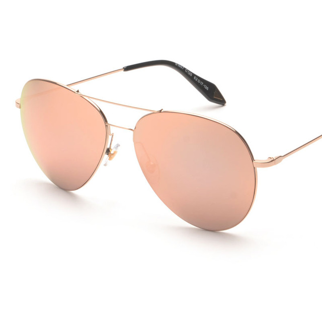 Victoria Feather Pilot Designer VB Men Women Sunglasses Mirrored Female Glasses Oculos De Sol Coating Fashion European Style