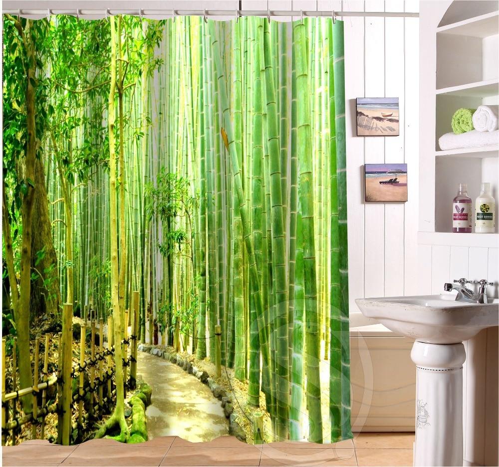 Bamboo shower curtain -
