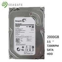 """Seagete disco rígido 2 tb desktop computador hdd 3.5 """"7200 rpm 64 mb sata 2000 gb 6 gb/s para desktop discos rígidos internos frete grátis"""