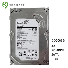 "Seagete hard disk 2TB desktop computer HDD 3.5"" 7200RPM 64MB  SATA 2000GB 6Gb/s for Desktop Internal Hard Drives Free Shipping"