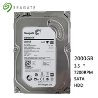 Seagete hard disk 2TB desktop computer HDD 3.5 7200RPM 64MB SATA 2000GB 6Gb/s for Desktop Internal Hard Drives Free Shipping