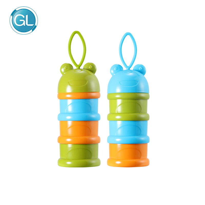 Tragbare Fach Kinder Milchpulver Flasche Kinder Cookies Mutter Desserts Container Sicher Für Kinder Baby Milch Container 4 Schichten Mutter & Kinder