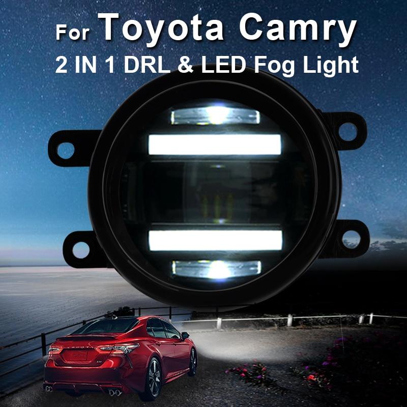 For Toyota Camry led fog lights LED DRL turn signal lights Car Styling LED Daytime Running
