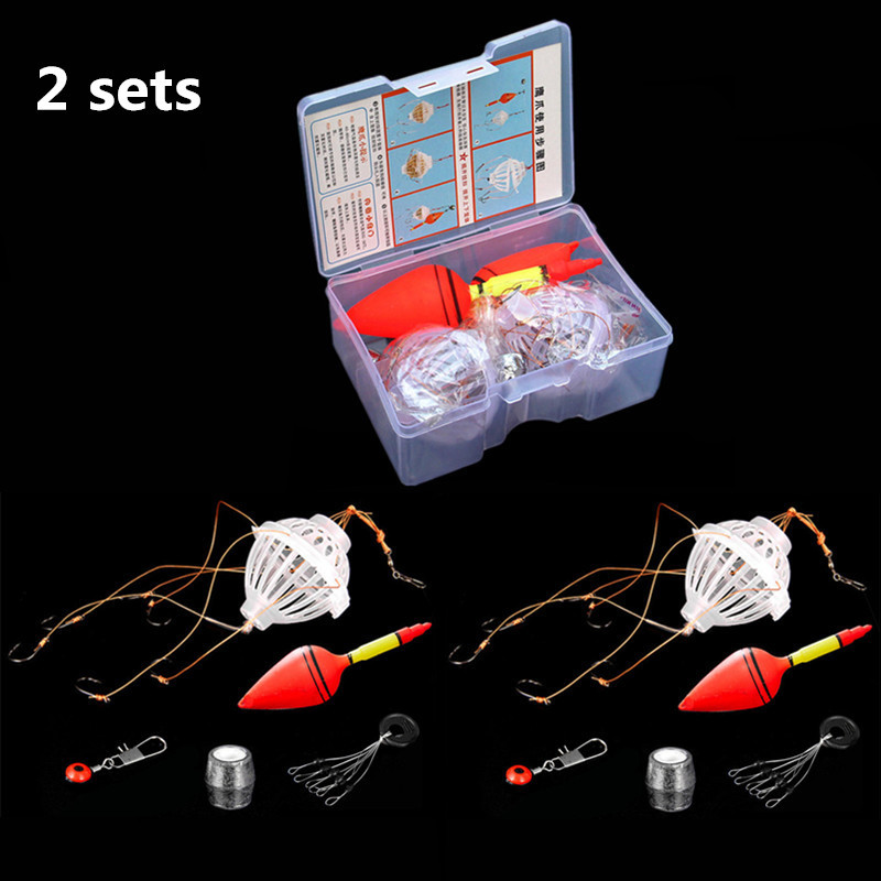 Temperate 5 Pcs Set 10 Pcs Sets Fishing Tackle Tool Carp Fishing Float Bobber Sea Monster With 6 Strong Explosion Hooks Fishing Equipment Lovely Luster